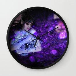 Breaking inside landscape scene Wall Clock