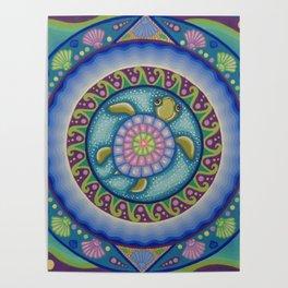 Little Turtle Mandala Poster