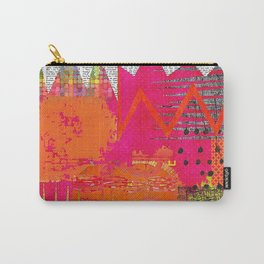 Hot Stuff Abstract Art Collage Carry-All Pouch
