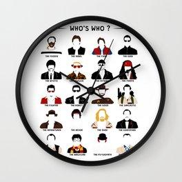 Who's who? Wall Clock