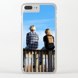 Teen Boys At The Beach Clear iPhone Case