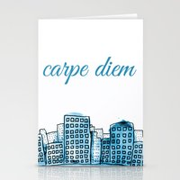 carpe diem Stationery Cards featuring Carpe Diem by Mankind Design