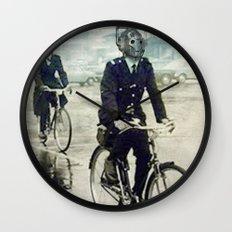 Cybermen on bikes Wall Clock