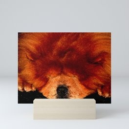 Sleeping Chow Chow Mini Art Print
