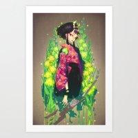 barachan Art Prints featuring kenkyo by barachan