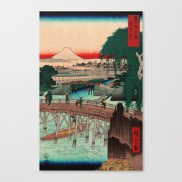Vintage Woodblock - Ikkoku Bridge Japan Canvas Print