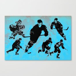 Game on! - Hockey Night Canvas Print