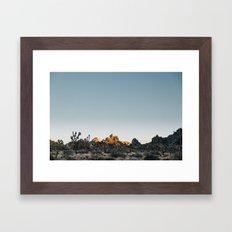 Fading Sun in Joshua Tree Framed Art Print