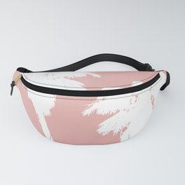 White Palm Trees On Rose Gold Fanny Pack