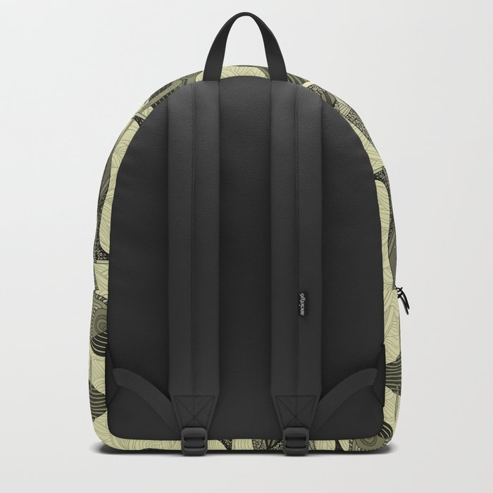 whales and waves natural Backpack