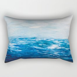 Paint 10 abstract water ocean seascape modern painting dorm room decor affordable stretched canvas Rectangular Pillow