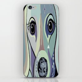 Dachshund in Denim Colors iPhone Skin