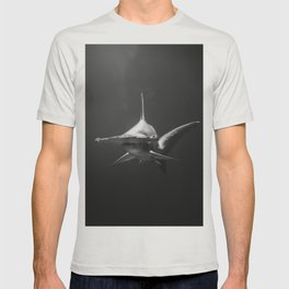 Hammerhead Shark (Black and White) T-shirt