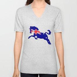 Australian Flag - Horse Unisex V-Neck