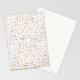Terrazzo Pattern in Earth and Blues Tones Stationery Cards