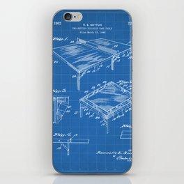 Table Tennis Patent - Tennis Art - Blueprint iPhone Skin