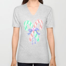Candy Canes: Fairy Kei Version Unisex V-Neck