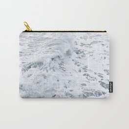White Abstract Sea Carry-All Pouch