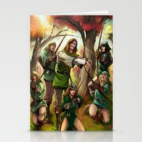 robin hood Stationery Cards featuring Robin Hood and his Merry Women by Eco Comics