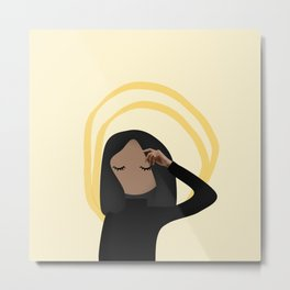 Morena Yellow Metal Print