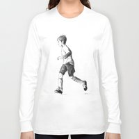 soccer Long Sleeve T-shirts featuring Soccer sketch by Pato