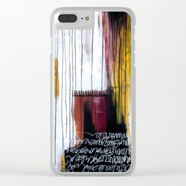 at the seams Clear iPhone Case