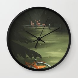 Gone for a ride BRB - 07 Wall Clock