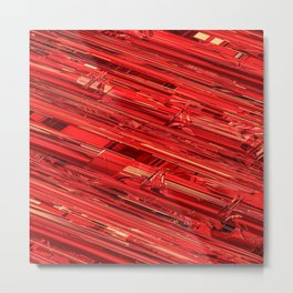 Speed Demon / Abstract 3D render of glass and metal Metal Print