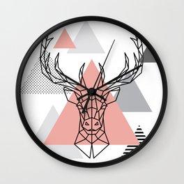 DEER HEAD - minimal abstract Wall Clock