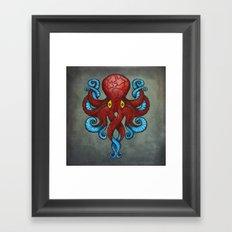 Red Dectopus Framed Art Print