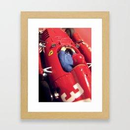 Lancia-Ferrari Slot Car Framed Art Print