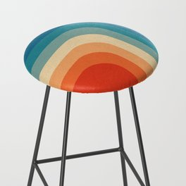 Retro 70s Color Palette III Bar Stool