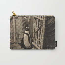 Antique Tintype Penguin Carry-All Pouch