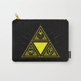 Light Of Triangle Carry-All Pouch