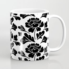 Black flowers pattern Coffee Mug