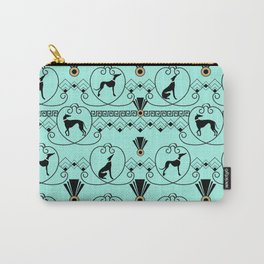 Deco Greyhound Carry-All Pouch
