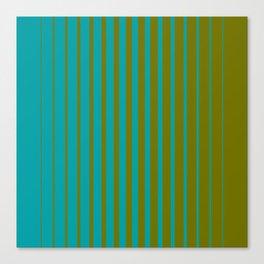 gradient stripes aqua olive Canvas Print