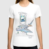channel T-shirts featuring The Airplane Channel by Ryan van Gogh