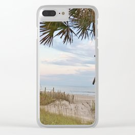 Dawn At The Beach Clear iPhone Case