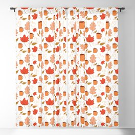 White autumn pattern Blackout Curtain