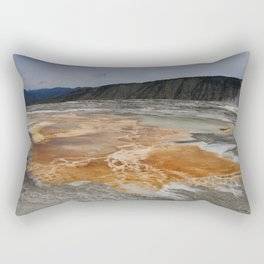 Mammoth Hot Spring Colors Rectangular Pillow