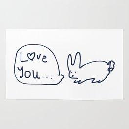 Love you... RABBITS TALKING Rug