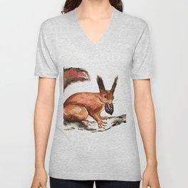 Eurasian Red Squirrel Unisex V-Neck