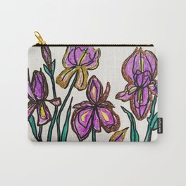 Iris with glitter Carry-All Pouch