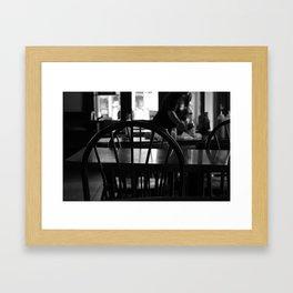 Waiting for a friend Framed Art Print