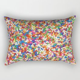 Rainbow Sprinkles Rectangular Pillow