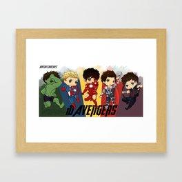1D Avengers Framed Art Print