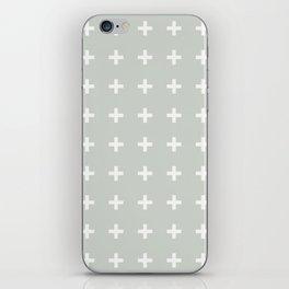 Gray Grey Plus Sea Salt iPhone Skin