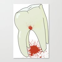 tooth Canvas Prints featuring Tooth by Slemdawg Hundredaire