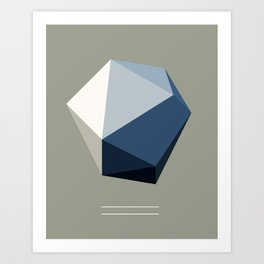 Minimal Geometric Polygon Art Art Print
